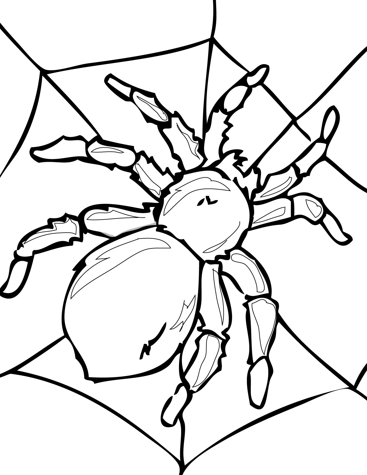 spider coloring pages for kids 01