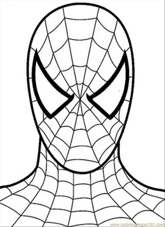 spiderman printable coloring sheets online