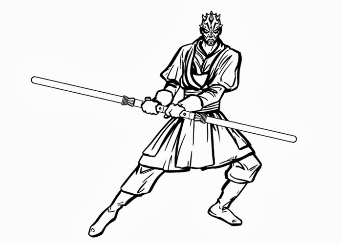 star wars darth maul coloring pages