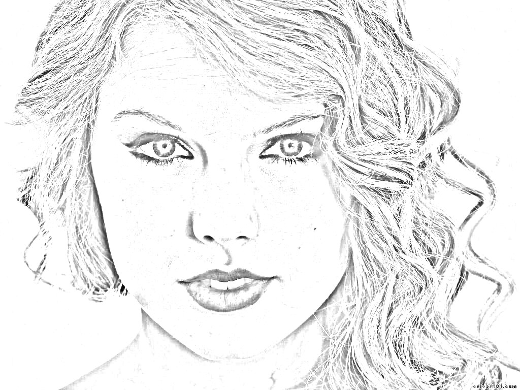 taylor swift coloring pages 03