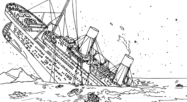 titanic coloring pages 01
