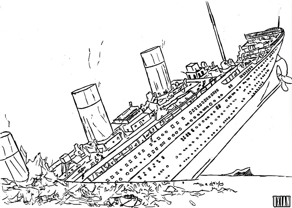 coloring pages titanic-#19