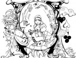 trippy alice in wonderland coloring pages