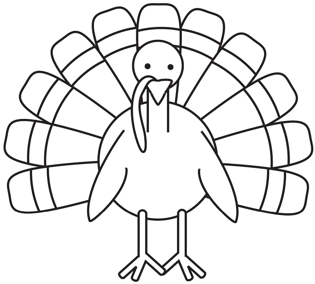 turkey coloring page - turkey coloring pages only coloring pages