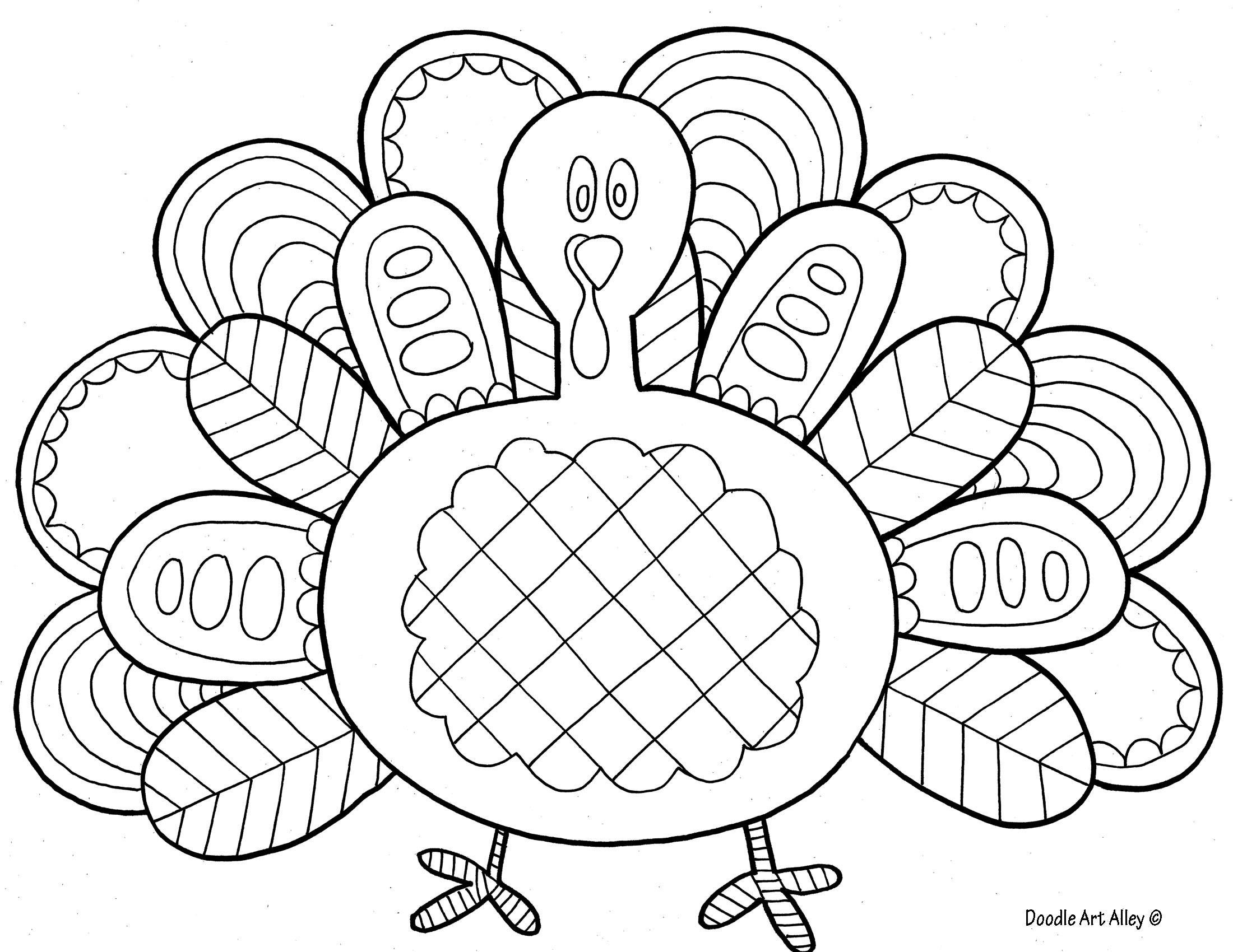 turkey coloring pages 07