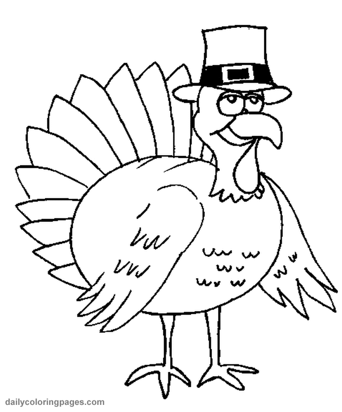 Turkey Coloring Pages 08