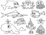 underwater animal coloring pages