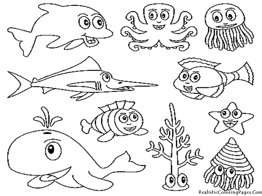 Underwater Animal Coloring Pages 01