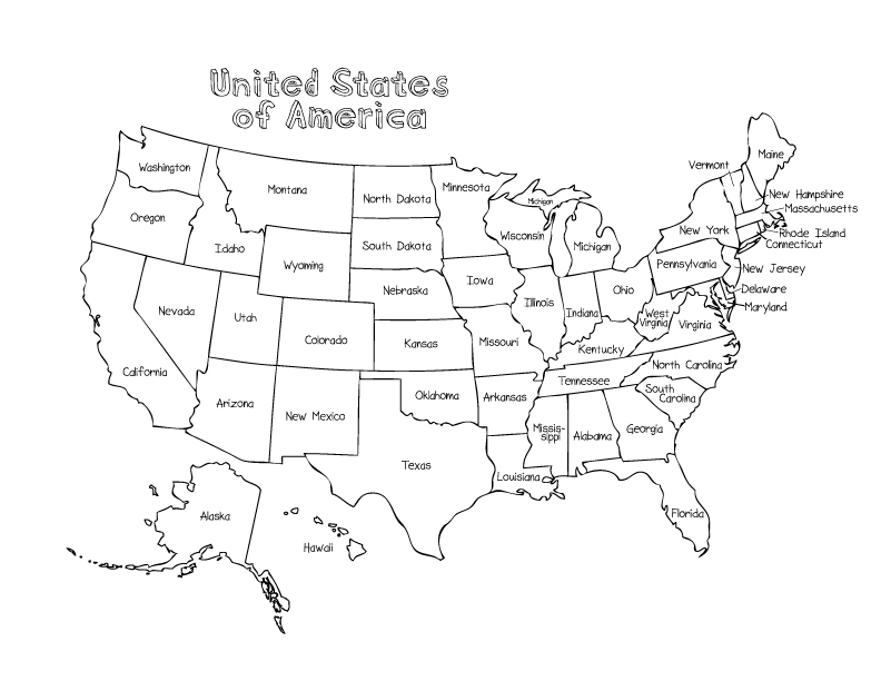 united states map coloring page 01