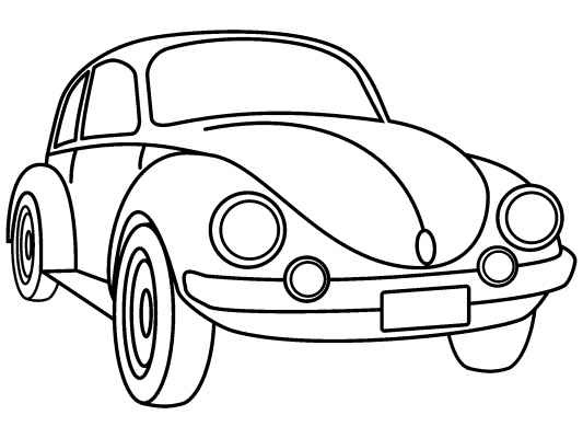 Line Drawing Vw Beetle : Vw beetle coloring pages pinterest
