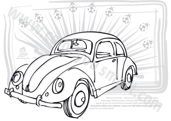 vw beetle coloring pages  coloring pages
