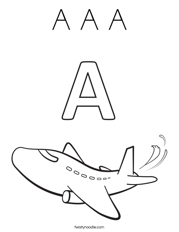 letter a coloring pages free - photo#29