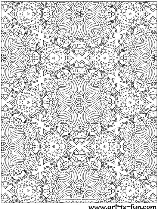 a4 colouring pages patterns 01