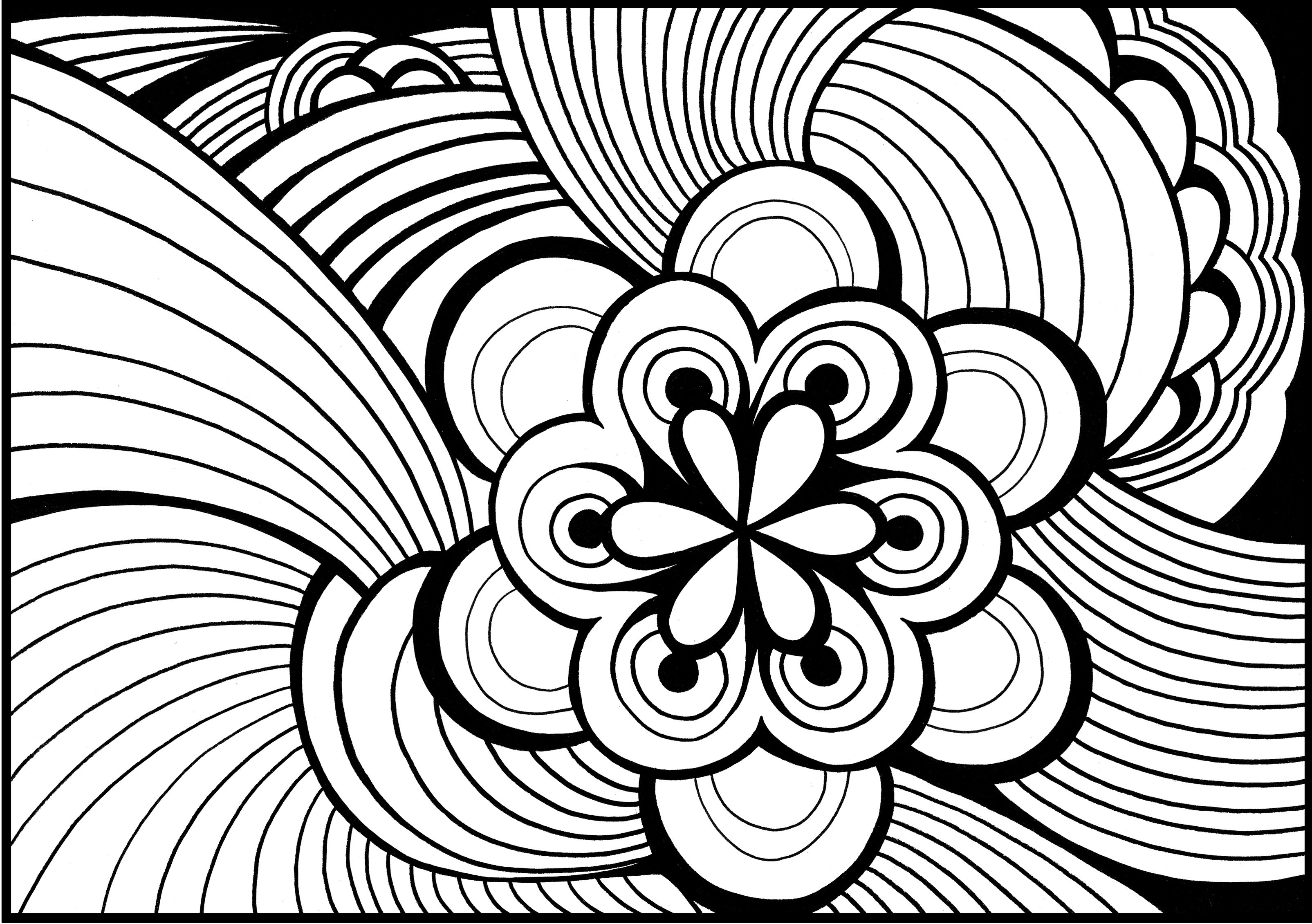 Abstract Adult Colouring Pages
