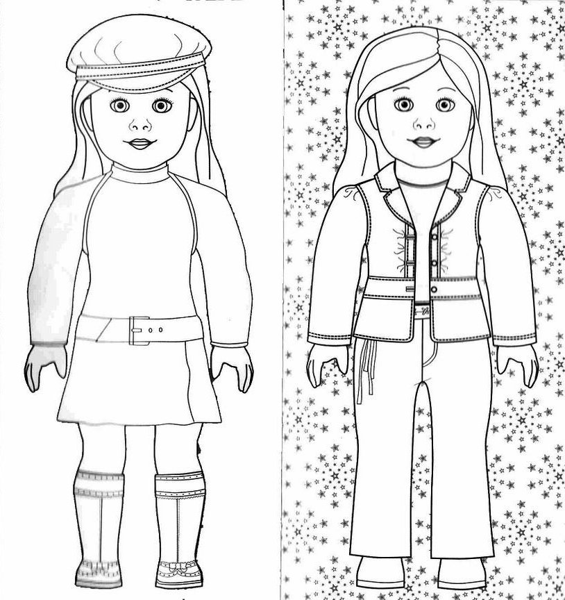 American Girl Coloring Pages 01