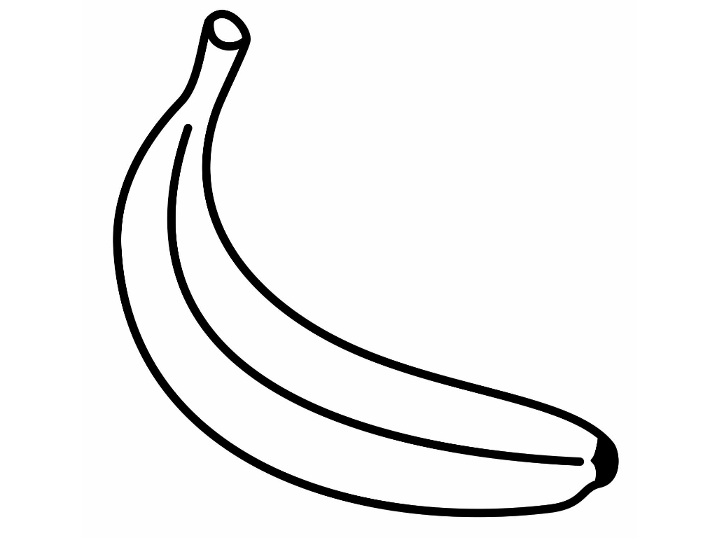 banana coloring page | Only Coloring Pages
