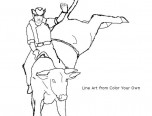 bull riding coloring pages