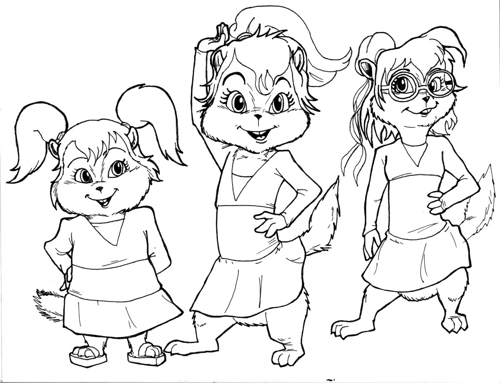 chipettes coloring pages 01
