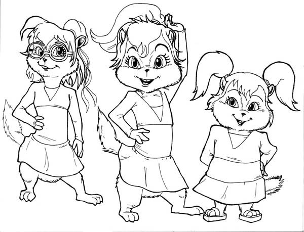 the chipettes coloring pages free - photo#19