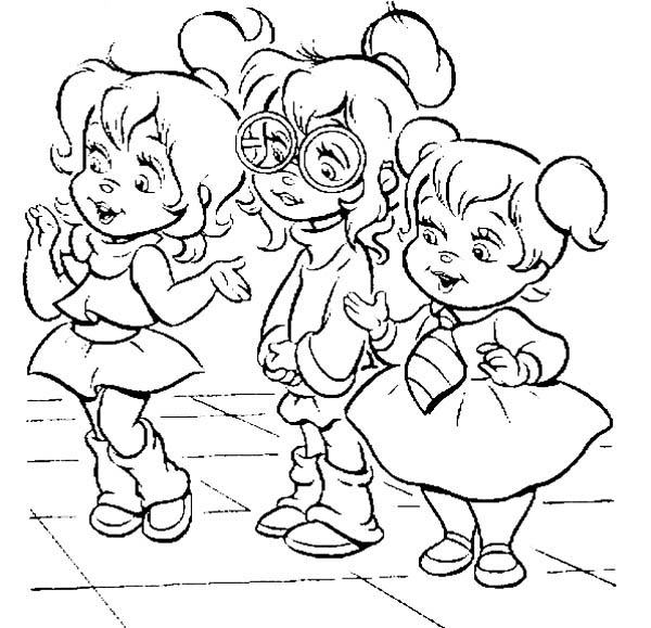 the chipettes coloring pages - chipettes coloring pages only coloring pages