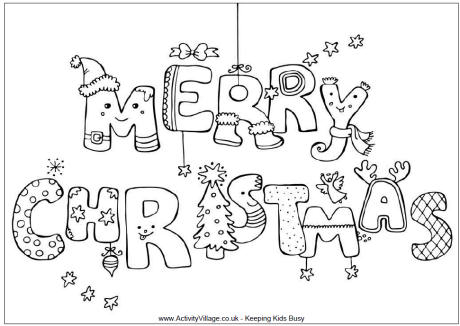 christmas colouring pictures 01