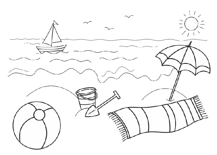 sun ocean coloring pages - photo#20
