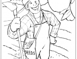 coloring page johnny appleseed