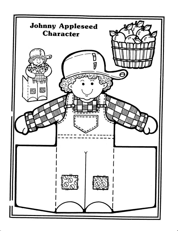jonny appleseed coloring pages - photo#26