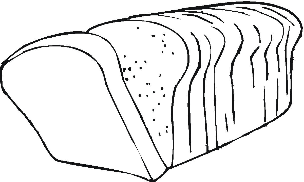 coloring pages bread