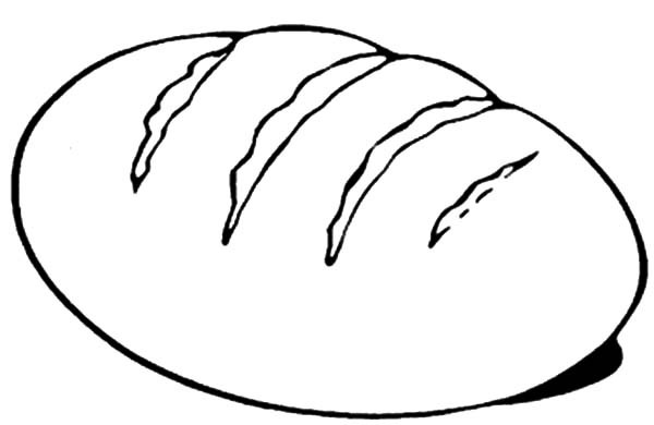 Coloring Pages Bread Only Coloring Pages Bread Coloring Page