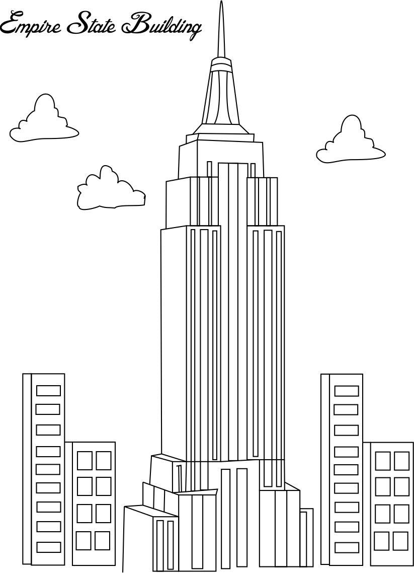 coloring pages empire state building