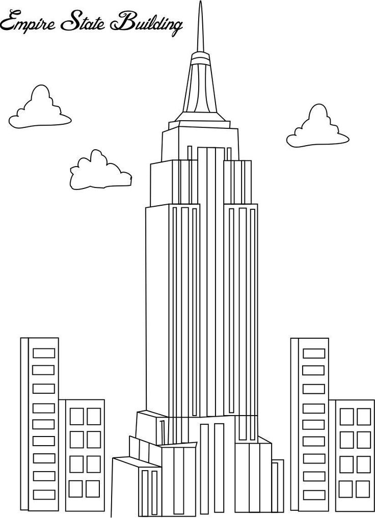 coloring pages empire state building 02