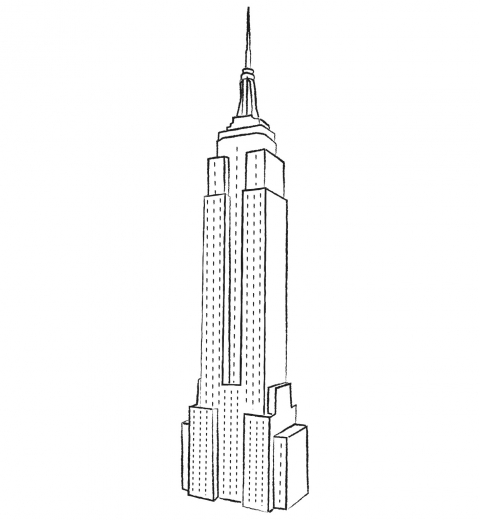coloring pages empire state building only coloring pages