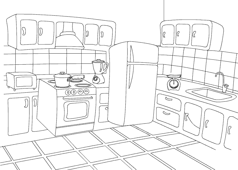 Coloring Pages Kitchen 01