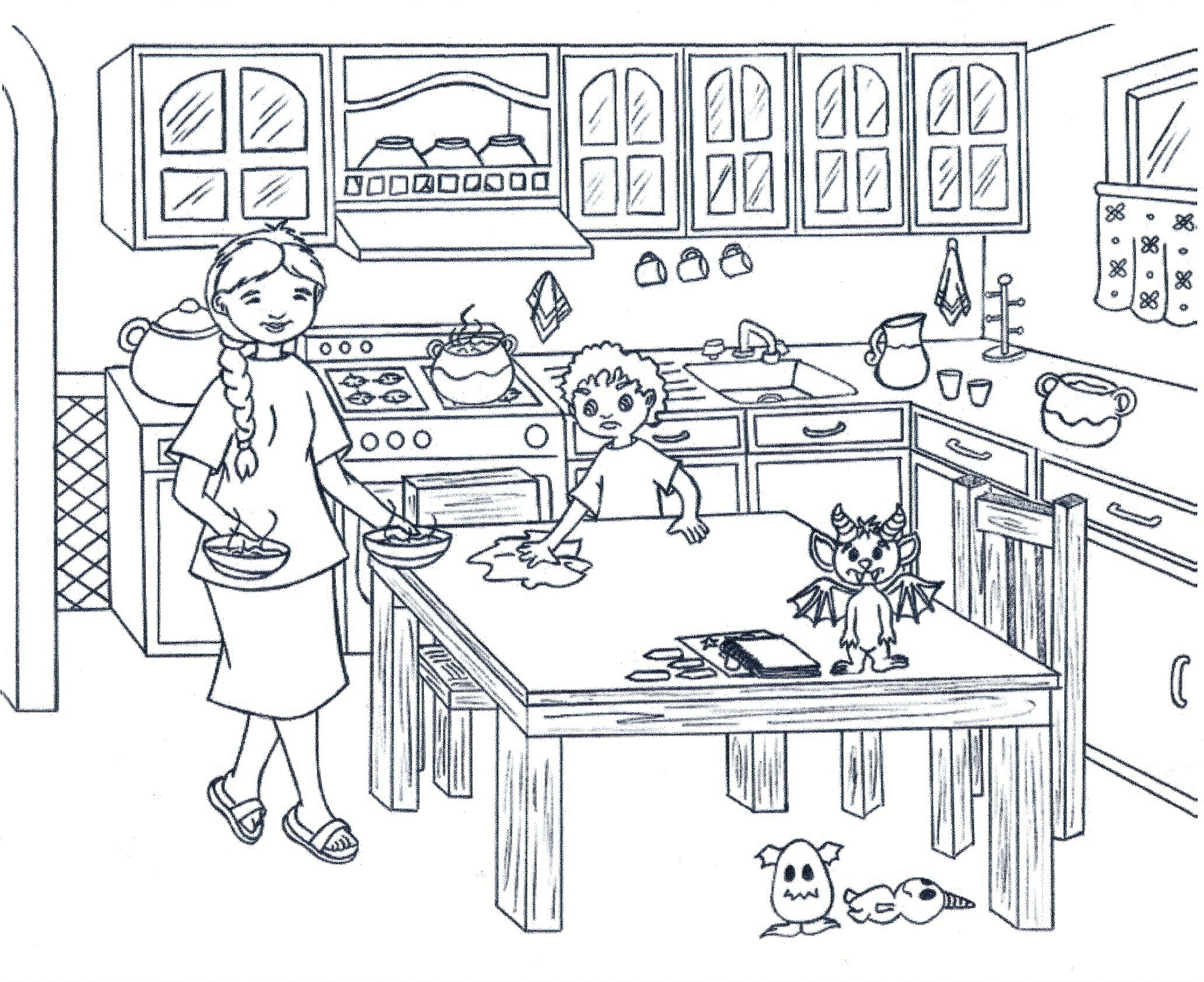 coloring pages kitchen Only Coloring Pages