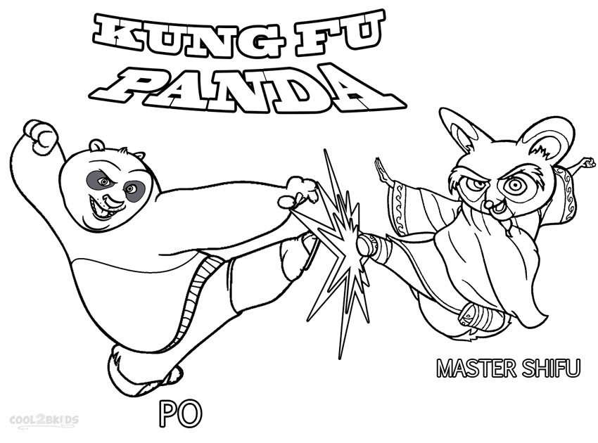 coloring pages kung fu panda