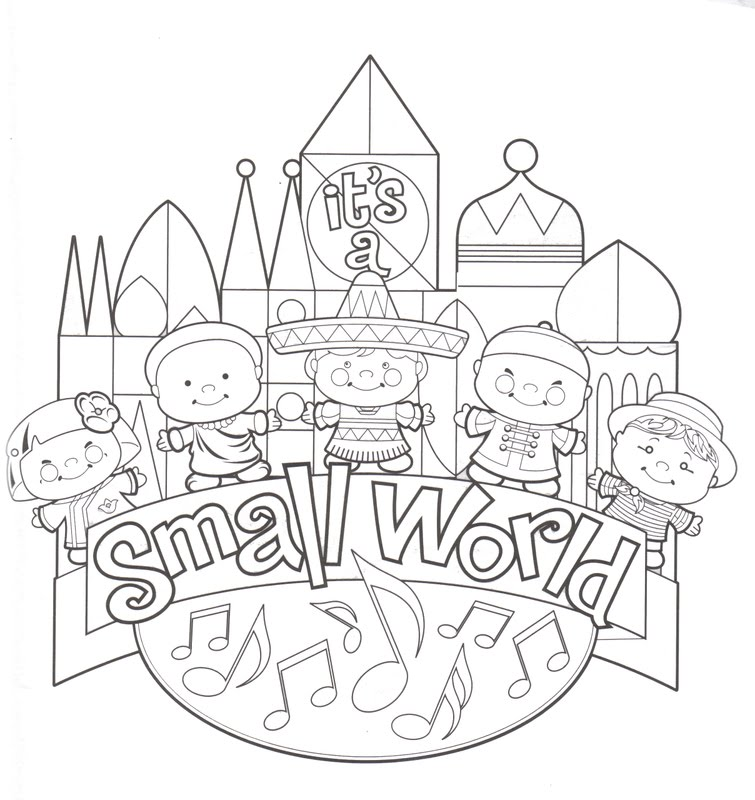 coloring pages of disney world 01