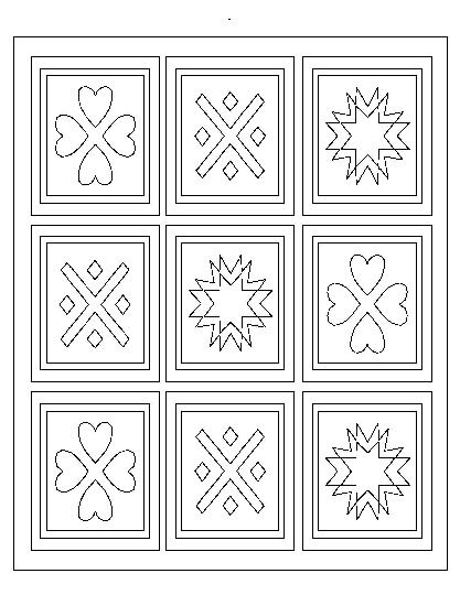 Coloring Pages Quilt 01