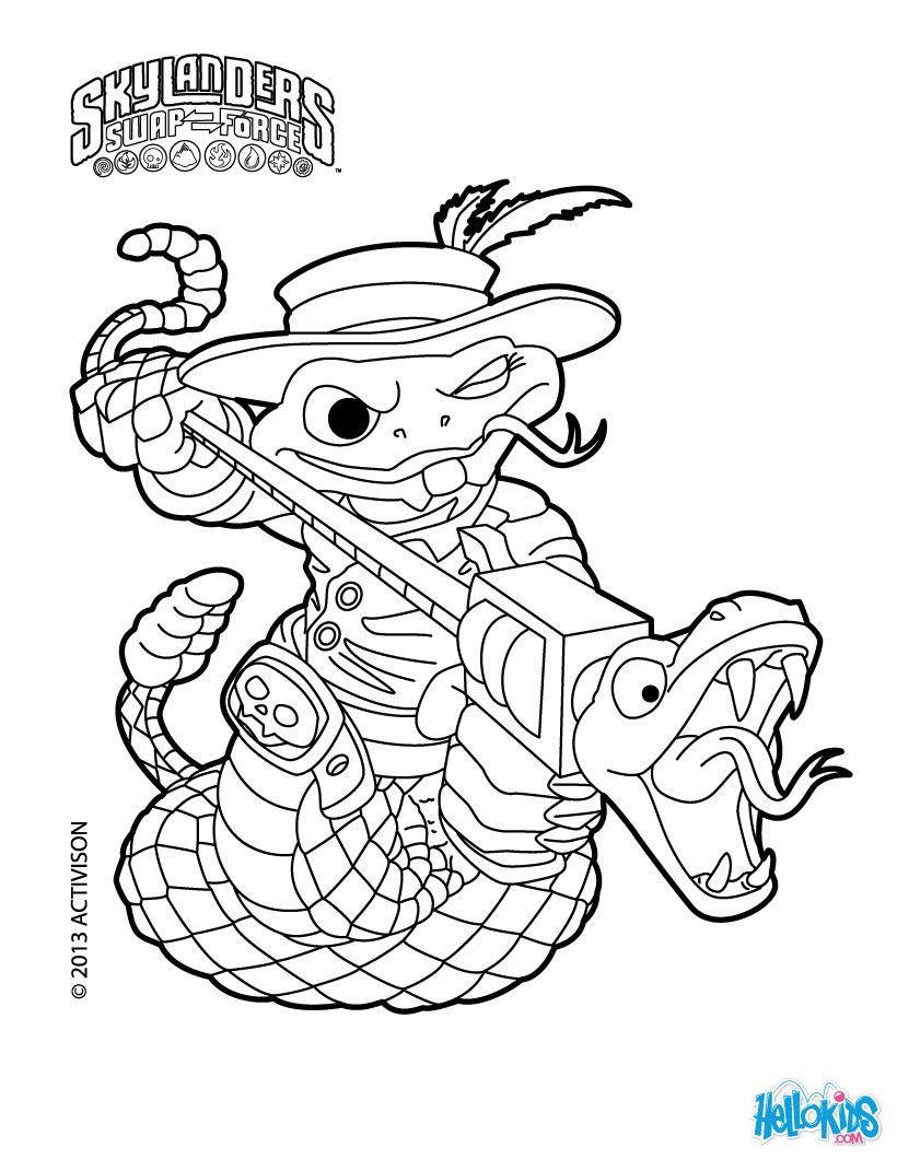 coloring pages skylanders swap force 01