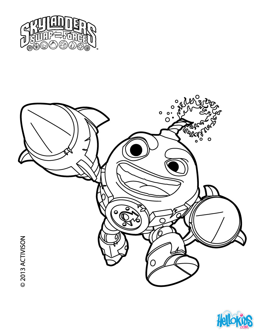 Coloring pages skylanders swap force only coloring pages for Skylanders coloring pages printable