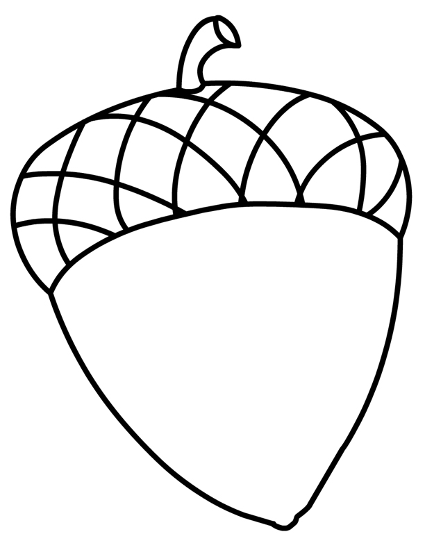 coloring pictures acorns