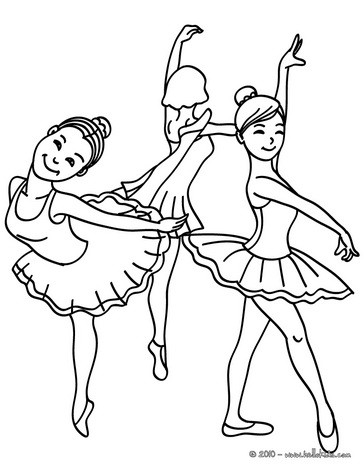 coloring pictures dancers 01