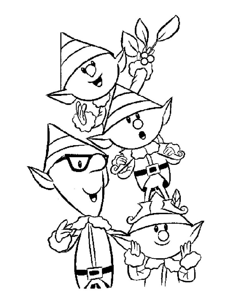 Elf Coloring Pages Pdf : Coloring pictures elves only pages