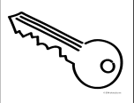 coloring pictures keys