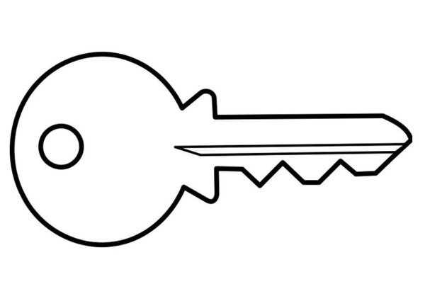 key coloring page coloring pictures keys only coloring pages