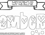 coloring pictures names