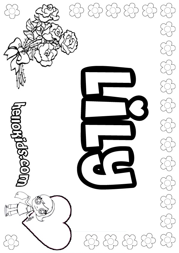 coloring pictures names Only