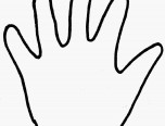 colouring page hand