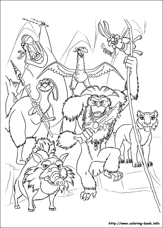colouring pages ice age 4 01
