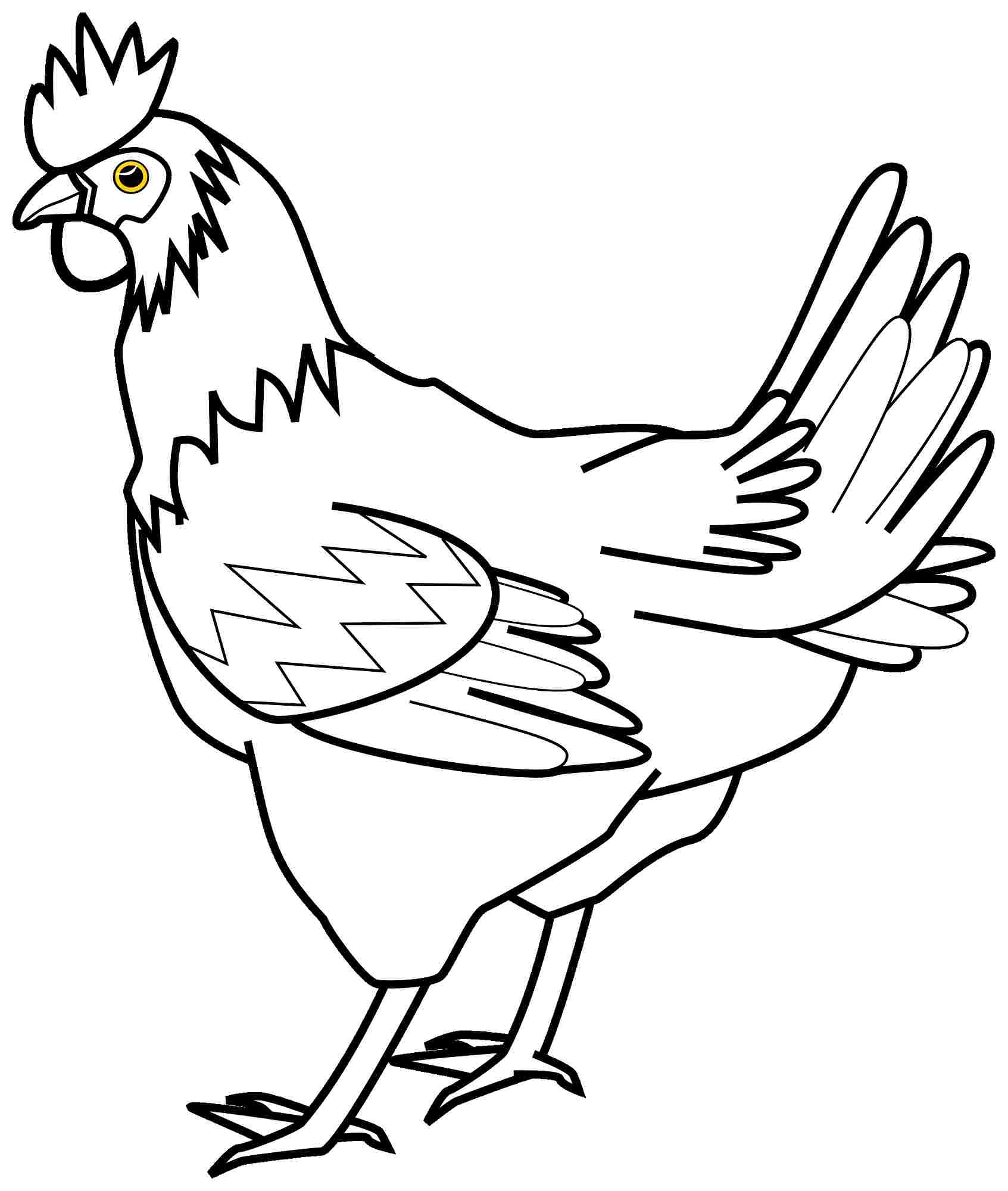 Colouring Pages Of Hen Only Coloring Pages The Hen Coloring Pages